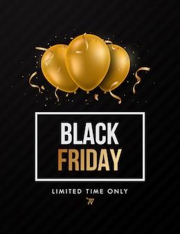 Black friday trendy sale design.