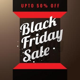 Black friday vente affiche en 3d