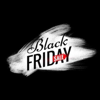 Black friday vente design avec effet de peinture blanche brosse