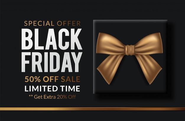 Black friday vente étiquette noire, bannière ronde, publicité