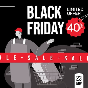 Black friday vente etiquette remise magasin
