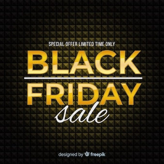 Black friday vente fond noir et or