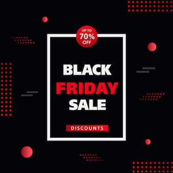 Black friday vente sur fond de réduction.