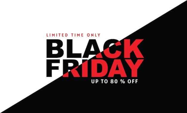 Black friday, vente, modèle de conception de bannière, couleur noire, durée limitée uniquement, fond abstrait, vecteur.