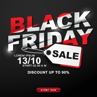 Black friday vente off modèle de remise