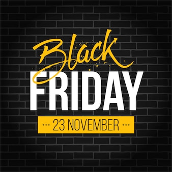 Black friday vente spéciale bannière de vente