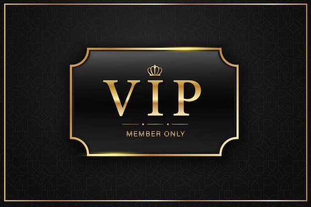 Black vip card golden label