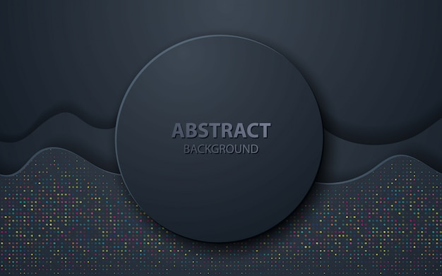 Black wave abstrait décoration réaliste