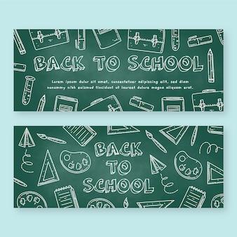 Blackboard retour au pack de bannières scolaires