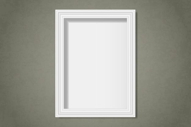 Blanc cadre vierge sur le mur