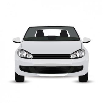 Blanc graphique de voiture moderne