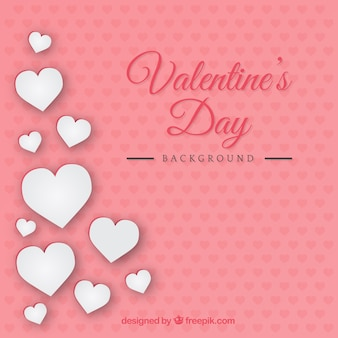 Blanc harts valentine day background