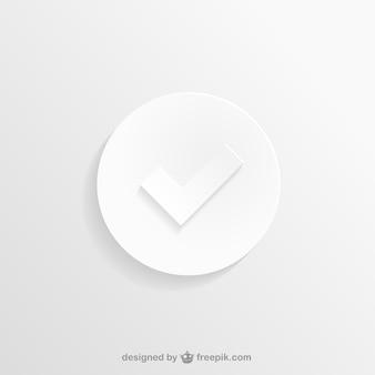 Blanc icône de vérification