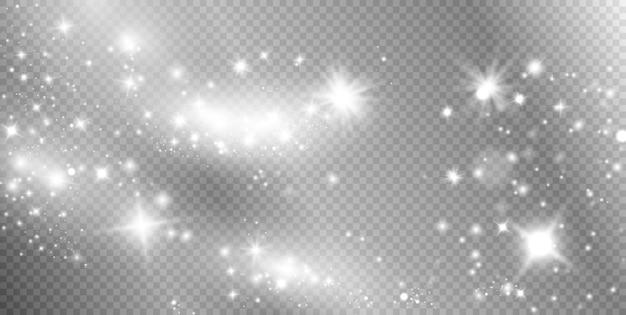 Blanc poussière étincelles blanches