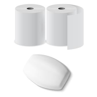 Blanc de savon d'hygiène antibactérien pour salle de bain