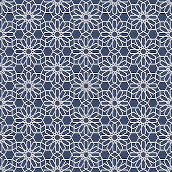 Blanc seamless pattern en style arabe