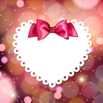 Blanche mignonne valentine sur un fond rouge vif