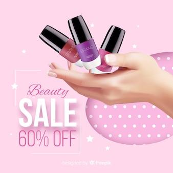 Blanchisserie cosmétique vente publicité réaliste