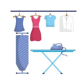 Blanchisserie avec équipement électrique et travail domestique