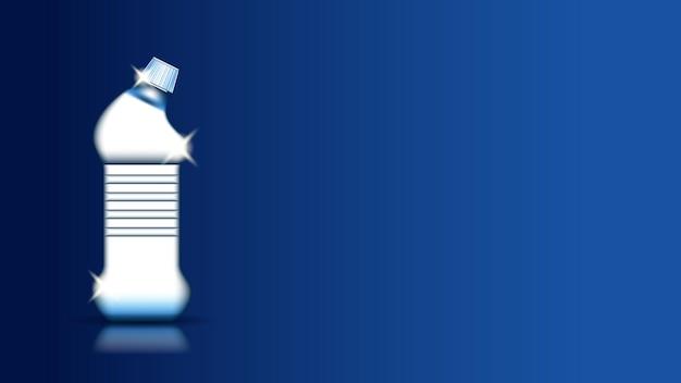 Blanchisserie liquide lessive en poudre copie espace vecteur