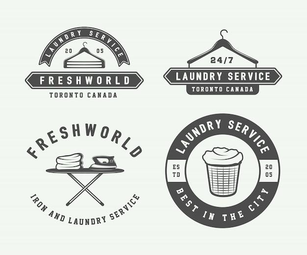 Blanchisserie, logos de nettoyage, emblèmes