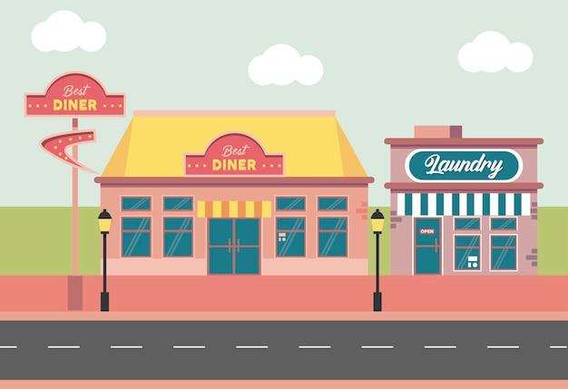 Blanchisserie et restaurant