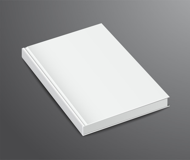 Blank book design, couverture rigide