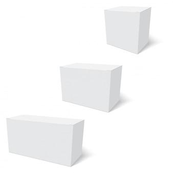 Blank de modèle de boîte de papier