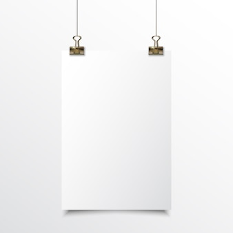 Blank paper realistic mock up