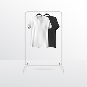 Blank t-shirt realistic mock up avec support