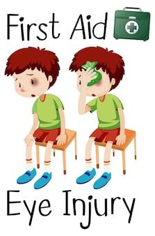 Blessure oculaire chez un garçon