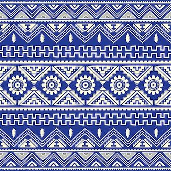 Bleu, amérindien, ethnique, modèle, thème, vecteur, art