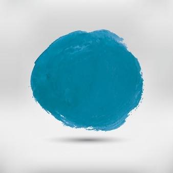 Bleu arrondi aquarelle tache