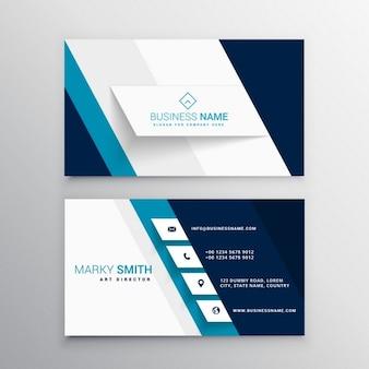 Bleu et blanc modèle de carte de visite moderne