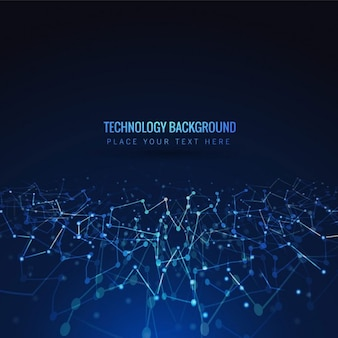 Bleu brillant fond de technologie
