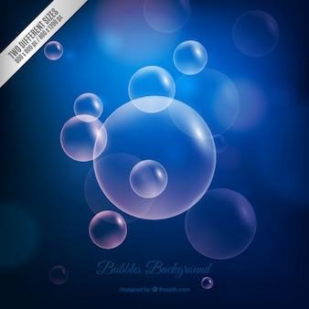 Bleu bubbles background