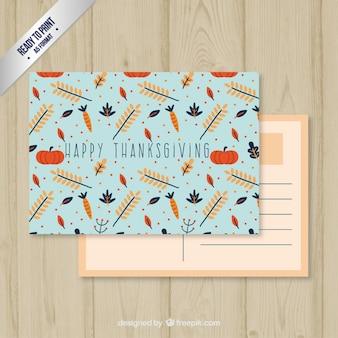 Bleu carte postale de thanksgiving