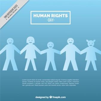 Bleu clair droits humains day background
