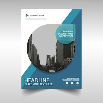 Bleu créatif rapport annuel modèle de couverture du livre