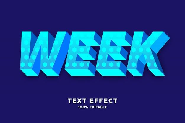 Bleu cyan frais 3d avec effet de texte à petit motif hexagonal