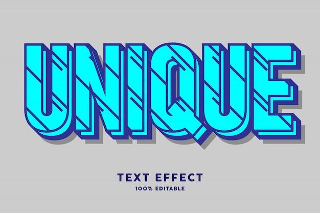 Bleu cyan gras avec effet de texte à motif de lignes