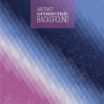 Bleu et diamant fond violet géométrique