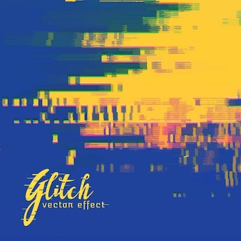 Bleu et jaune abstrait, effet glitch