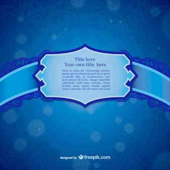 Bleu modèle d'étiquette d'ornement