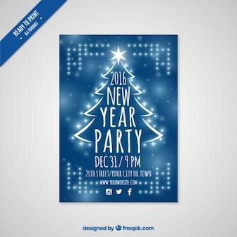 Bleu new year party fyer 2,016