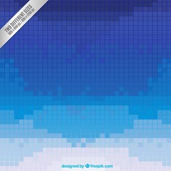 Bleu pixels fond