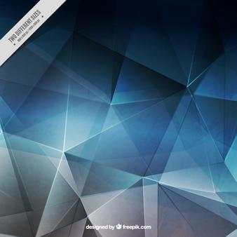 Bleu polygonal et fond gris