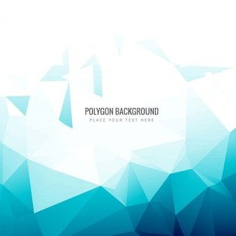 Bleu polygone fond