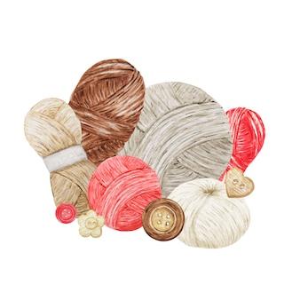 Bleu rouge gris beige crochet shop logotype