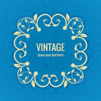 Bleu vintage background frame